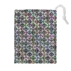 Peace Pattern Drawstring Pouches (Extra Large)