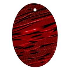 Alien Sine Pattern Ornament (oval)