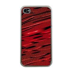 Alien Sine Pattern Apple Iphone 4 Case (clear)