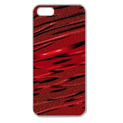 Alien Sine Pattern Apple Seamless Iphone 5 Case (clear)