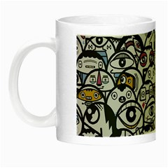 Alien Crowd Pattern Night Luminous Mugs