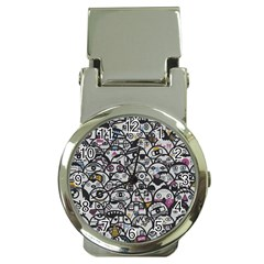 Alien Crowd Pattern Money Clip Watches