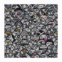 Alien Crowd Pattern Medium Glasses Cloth