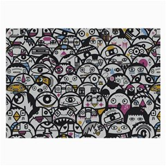 Alien Crowd Pattern Large Glasses Cloth (2 Side)