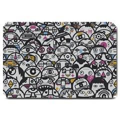 Alien Crowd Pattern Large Doormat