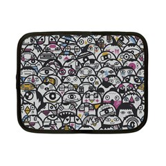Alien Crowd Pattern Netbook Case (small)
