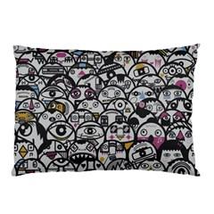 Alien Crowd Pattern Pillow Case