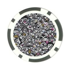 Alien Crowd Pattern Poker Chip Card Guard (10 pack)
