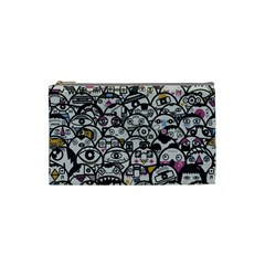 Alien Crowd Pattern Cosmetic Bag (Small)
