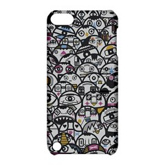 Alien Crowd Pattern Apple iPod Touch 5 Hardshell Case with Stand