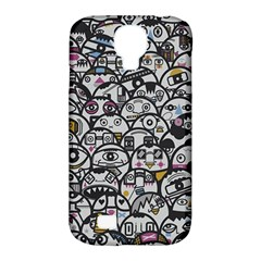 Alien Crowd Pattern Samsung Galaxy S4 Classic Hardshell Case (pc+silicone)