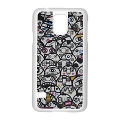 Alien Crowd Pattern Samsung Galaxy S5 Case (white)