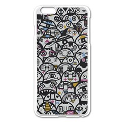 Alien Crowd Pattern Apple iPhone 6 Plus/6S Plus Enamel White Case