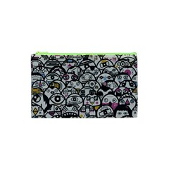 Alien Crowd Pattern Cosmetic Bag (xs)
