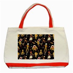 Alien Surface Pattern Classic Tote Bag (red)