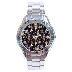 Alien Surface Pattern Stainless Steel Analogue Watch