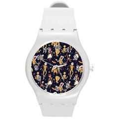 Alien Surface Pattern Round Plastic Sport Watch (M)