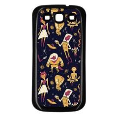 Alien Surface Pattern Samsung Galaxy S3 Back Case (black)