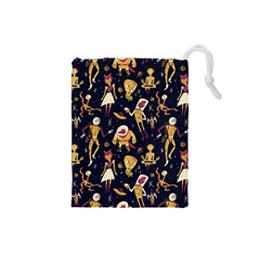 Alien Surface Pattern Drawstring Pouches (Small)