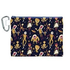 Alien Surface Pattern Canvas Cosmetic Bag (XL)
