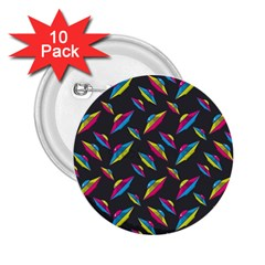 Alien Patterns Vector Graphic 2 25  Buttons (10 Pack)
