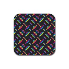 Alien Patterns Vector Graphic Rubber Square Coaster (4 pack)