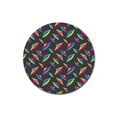 Alien Patterns Vector Graphic Magnet 3  (Round)