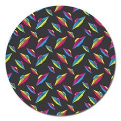 Alien Patterns Vector Graphic Magnet 5  (Round)