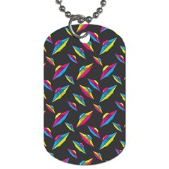 Alien Patterns Vector Graphic Dog Tag (one Side)