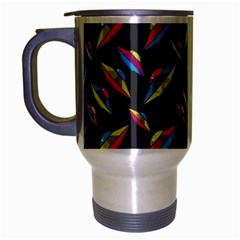 Alien Patterns Vector Graphic Travel Mug (silver Gray)