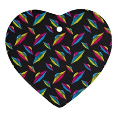 Alien Patterns Vector Graphic Heart Ornament (Two Sides)