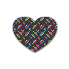Alien Patterns Vector Graphic Heart Coaster (4 pack)