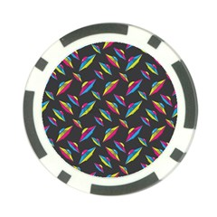 Alien Patterns Vector Graphic Poker Chip Card Guard