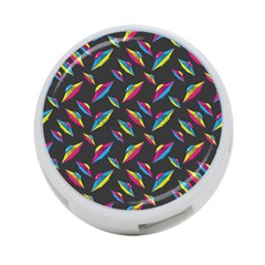 Alien Patterns Vector Graphic 4 Port Usb Hub (two Sides)