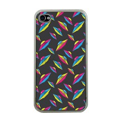 Alien Patterns Vector Graphic Apple Iphone 4 Case (clear)