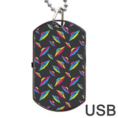 Alien Patterns Vector Graphic Dog Tag Usb Flash (two Sides)