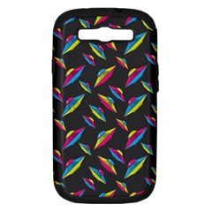 Alien Patterns Vector Graphic Samsung Galaxy S III Hardshell Case (PC+Silicone)