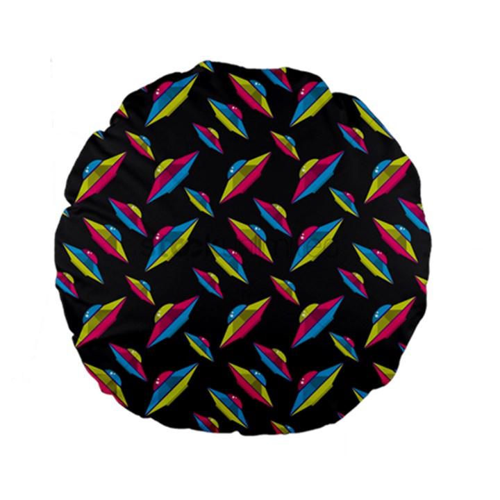 Alien Patterns Vector Graphic Standard 15  Premium Round Cushions