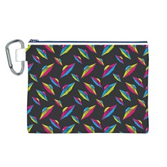 Alien Patterns Vector Graphic Canvas Cosmetic Bag (l)