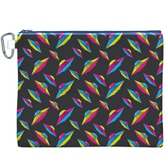 Alien Patterns Vector Graphic Canvas Cosmetic Bag (xxxl)