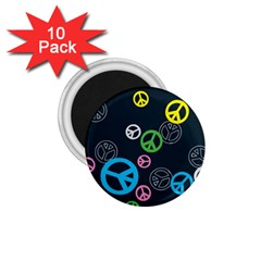 Peace & Love Pattern 1.75  Magnets (10 pack)