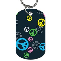 Peace & Love Pattern Dog Tag (two Sides)