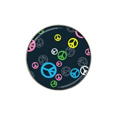 Peace & Love Pattern Hat Clip Ball Marker (4 pack)