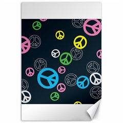 Peace & Love Pattern Canvas 20  x 30