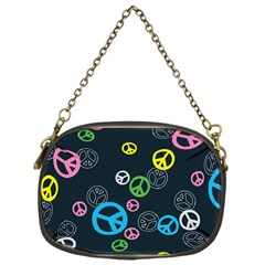 Peace & Love Pattern Chain Purses (One Side)