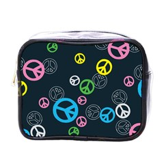 Peace & Love Pattern Mini Toiletries Bags