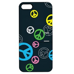 Peace & Love Pattern Apple iPhone 5 Hardshell Case with Stand