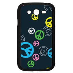 Peace & Love Pattern Samsung Galaxy Grand DUOS I9082 Case (Black)
