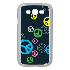 Peace & Love Pattern Samsung Galaxy Grand DUOS I9082 Case (White)
