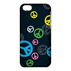 Peace & Love Pattern Apple Iphone 5c Hardshell Case
